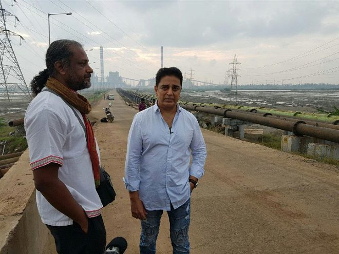 Kamal Haasan Visit Ennore, Bats For Anti Encroachments