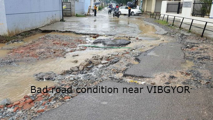 Potholes In Bengaluru Telling Sad Stories