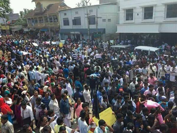 Fishermen Families Protest In Kanyakumari