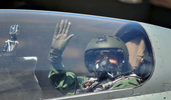 Minister Nirmala Sitharaman Flies In IAFs Sukhoi 30 MKI