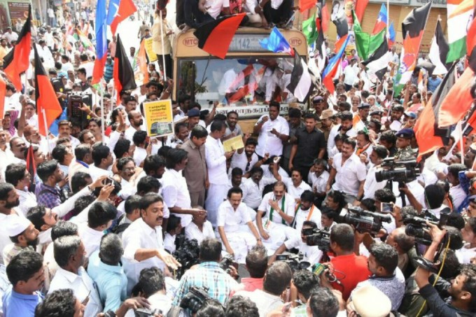 DMK And Parties Protests Against Tamil Nadu Bus Fare Hike