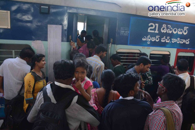 Sankranti Rush Chokes Bus, Railway Stations