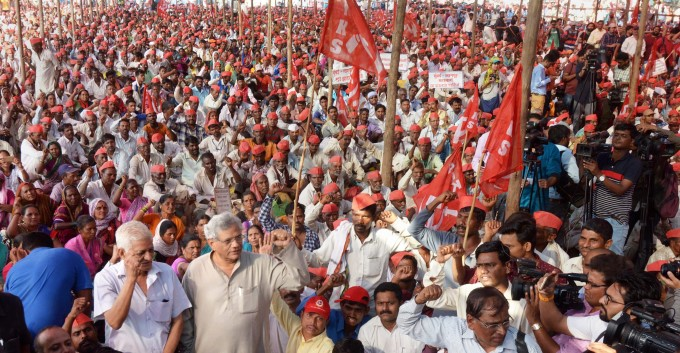 Farmers Protest In Mumbai