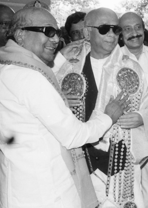 M Karunanidhi With Karnataka Politicians