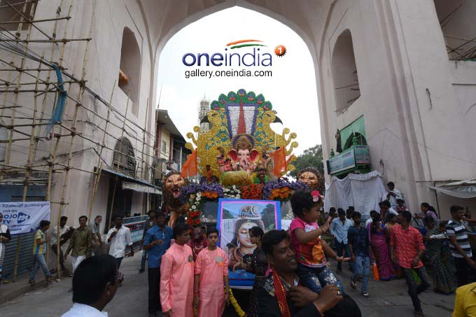 Ganesh Immersion At Tank Bund In Hyderabad