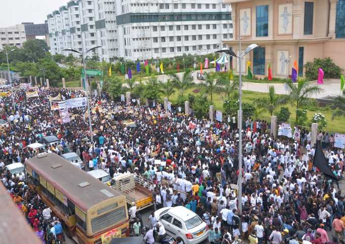 M K Alagiri Silent Rally In Chennai
