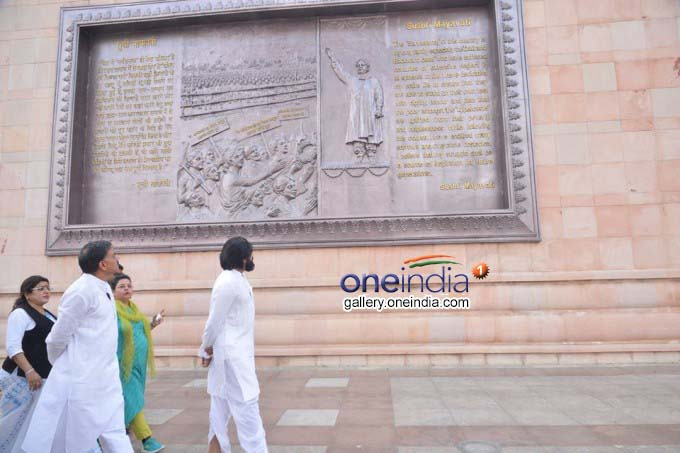 Jana Sena Party Chief Pawan Kalyan Visits Ambedkar Memorial Park