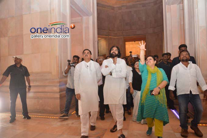 Jana Sena Party Chief Pawan Kalyan Visits Ambedkar Memorial Park