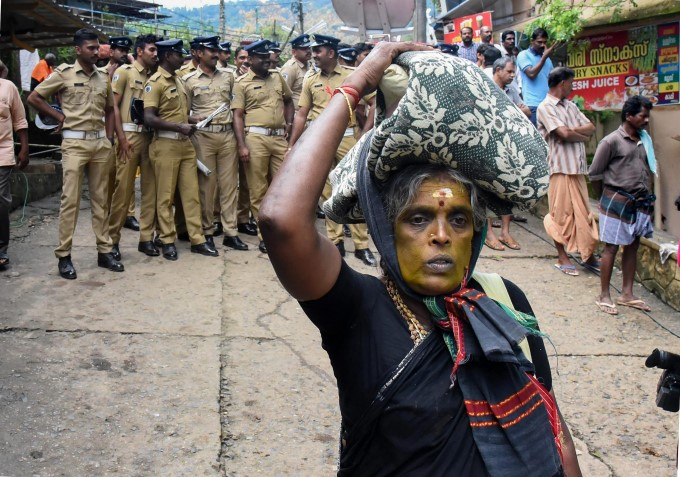 Massive Protest Against SC Verdict At Sabarimala