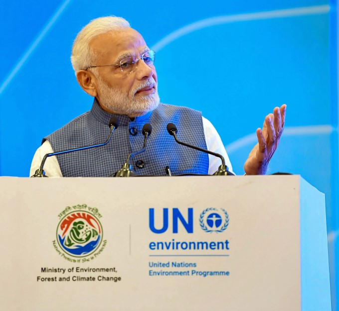 PM Narendra Modi Receives UN Champions Of The Earth Award 2018