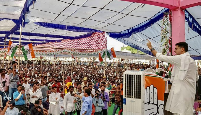 Congress Party Election Campaign In Rajasthan 2018