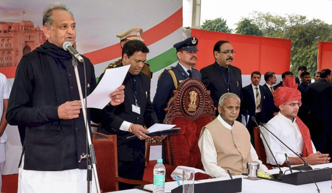 Ashok Gehlot Sworn In As Rajasthan Chief Minister