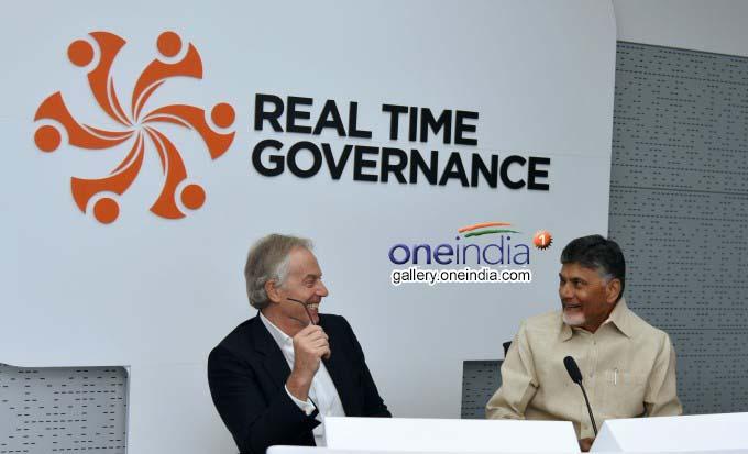 Former Britain PM Tony Blair Visits Amaravati