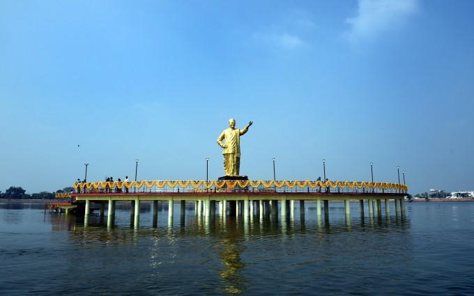 AP CM N Chandrababu Naidu Unveils Tallest NTR Statue In Sattenapalli
