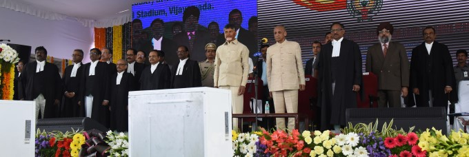 Swearing Ceremony Of Chief Justice And Judges Of AP High Court