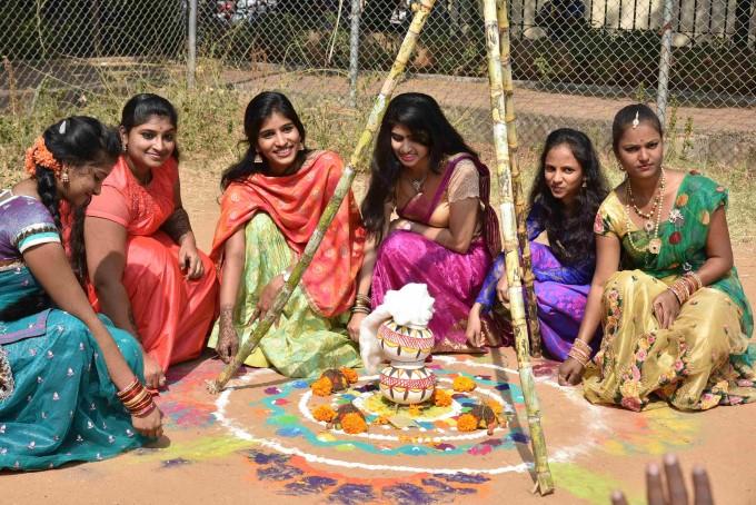 Sankranti Celebrations At Jahnavi College In Hyderabad