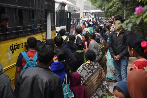 Sankranti Rush Chokes Bus And Railway Stations