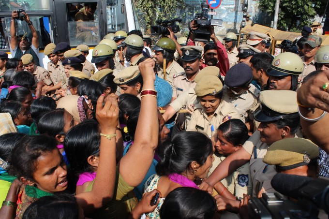 Thousands Of Women Protest Against Government In Demanding Complete Liquor Ban In Karnataka