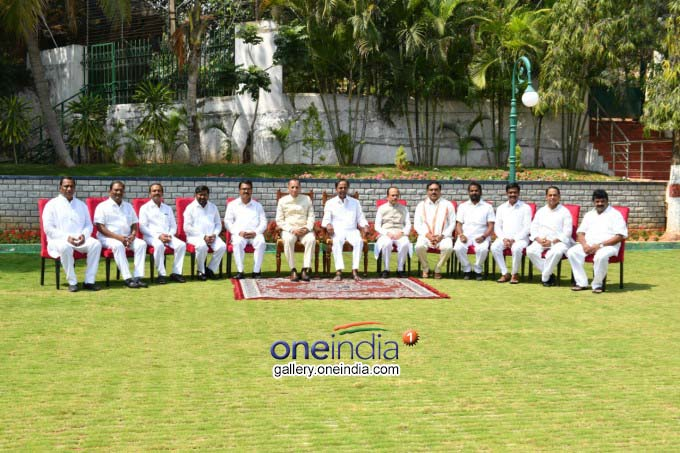 Swearing Ceremony Of Telangana Cabinet Ministers At Raj Bhavan