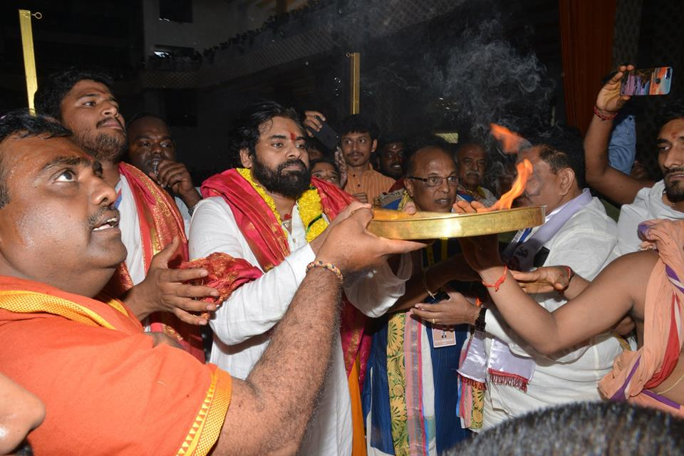 Image result for pawan kalyan temple visit west godavari