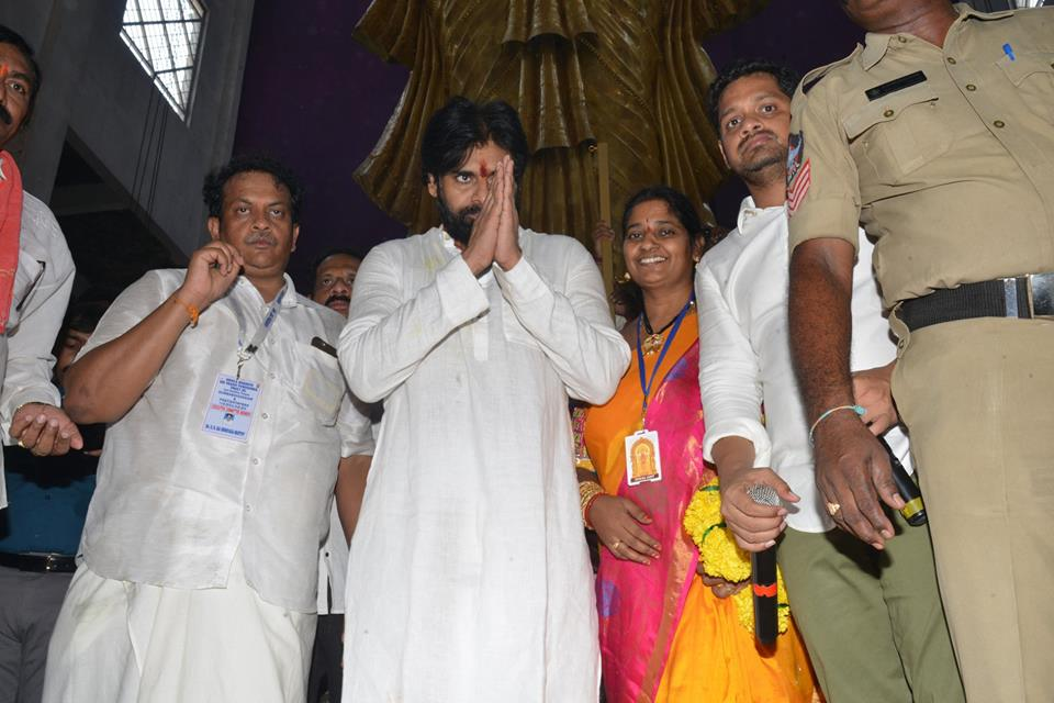 JanaSena Chief Pawan Kalyan Visit To Penugonda Temple, West Godavari