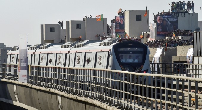PM Narendra Modi Flags Off The Ahmedabad Metro Phase 1