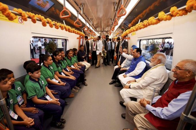 PM Narendra Modi Flags Off The Ahmedabad Metro Phase 1