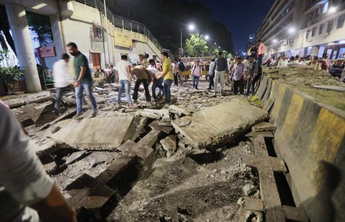 Mumbai Foot Over Bridge Collapse Near CST