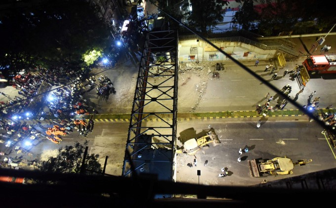 Mumbai Foot Over Bridge Collapse Near CST