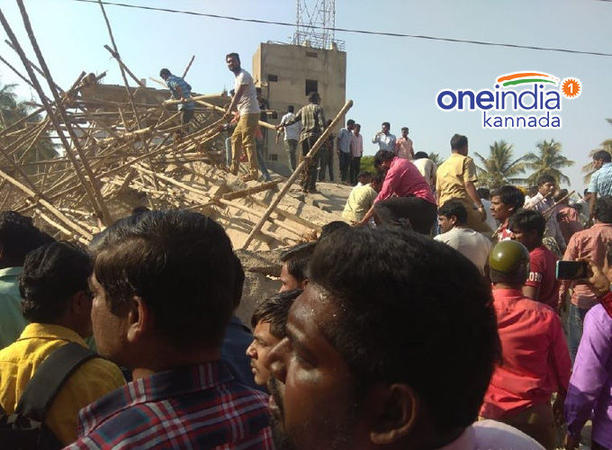 Under Construction Building Collapsed In Dharwad