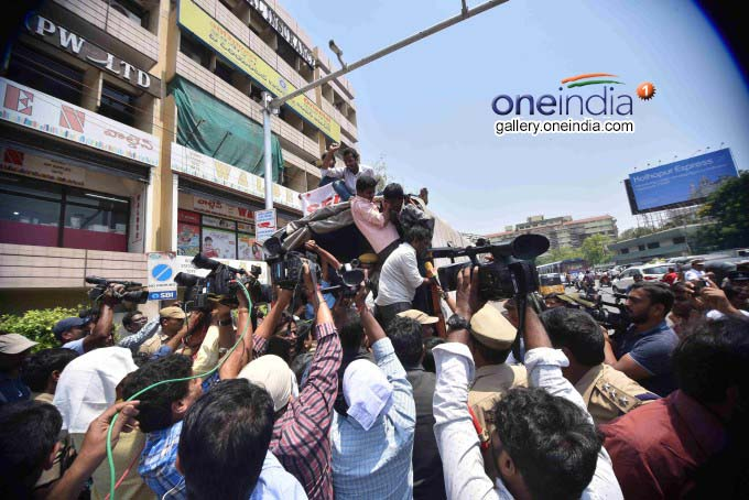 Telangana Students Protest Over Intermediate Results Issue