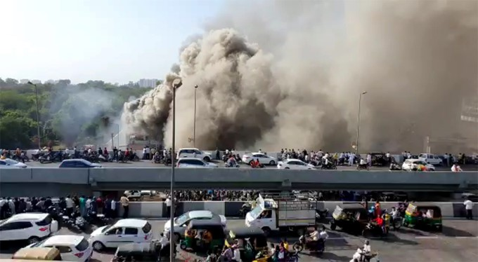 Fire Accident At A Coaching Centre In Surat