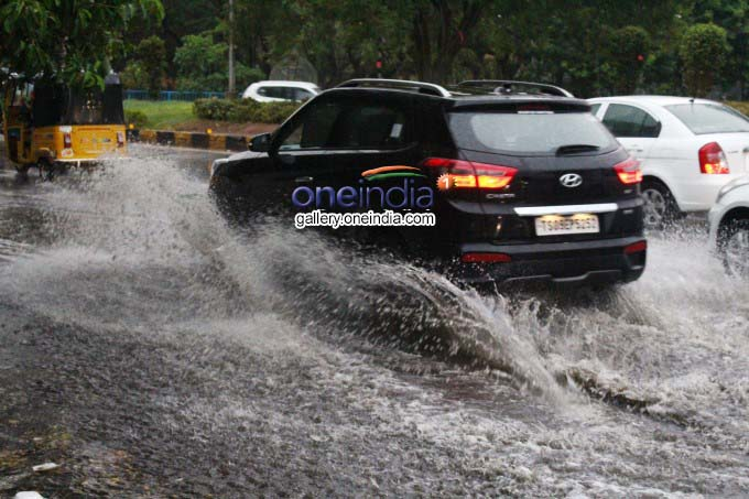 Heavy Rain Lashes Hyderabad, Part Of Moula Ali Kaman Falls