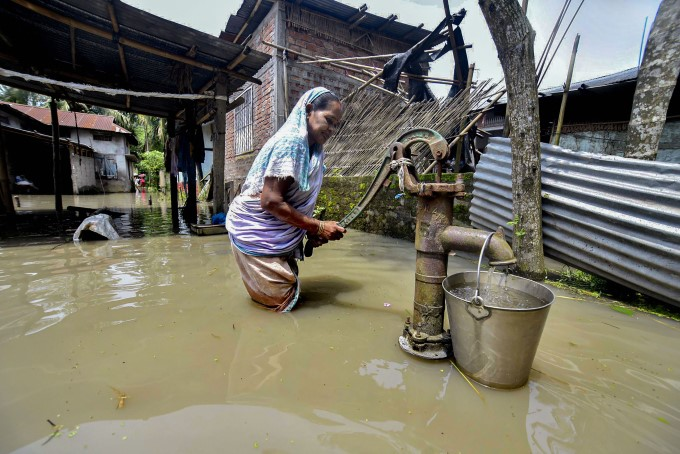 Heavy Rainfall And Floods In Assam
