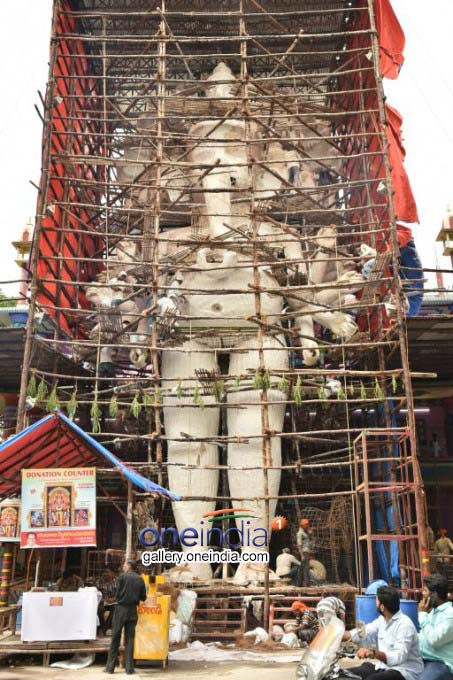Khairatabad Ganesh 2019 Idol Construction Work