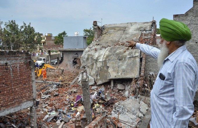 Blast At Fireworks Factory In Punjab Photos: HD Images