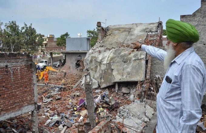 Blast At Fireworks Factory In Punjab