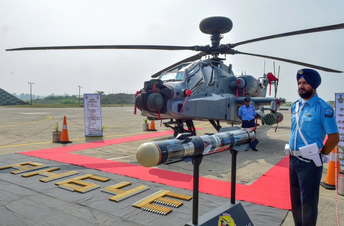 IAF Inducts 8 US-Made Apache AH-64E Helicopters
