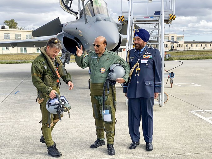 Defence Minister Rajnath Singh Takes Delivery Of First Rafale Fighter Jet