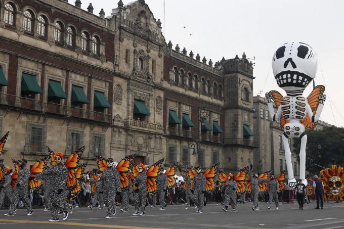 Day Of The Dead Parade In Mexico City 2019