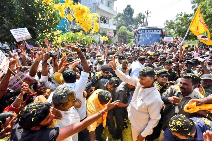 Former AP CM N Chandrababu Naidu On Amaravathi Tour