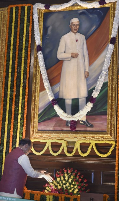 National Leaders Pays Tribute To India's First PM Jawaharlal Nehru