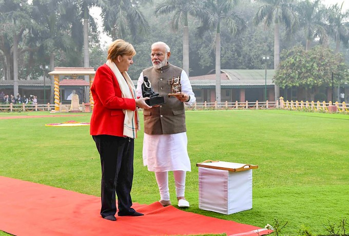 German Chancellor Angela Merkel 2-day Visit To India