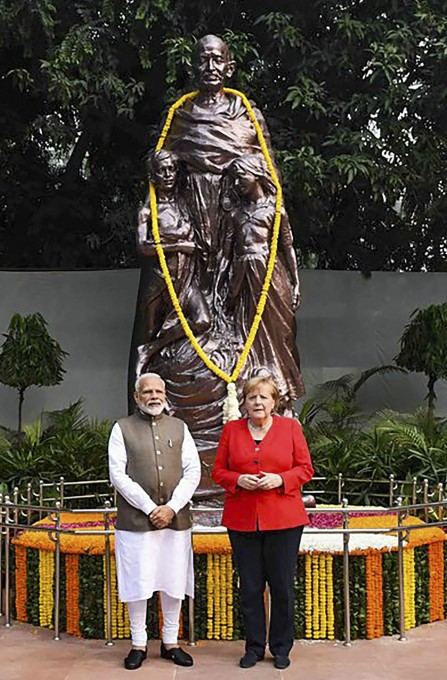 German Chancellor Angela Merkel 2-day Visit To India
