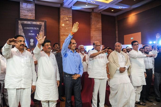 NCP, Congress And Shiv Sena MLAs At Grand Hyatt Hotel In Mumbai