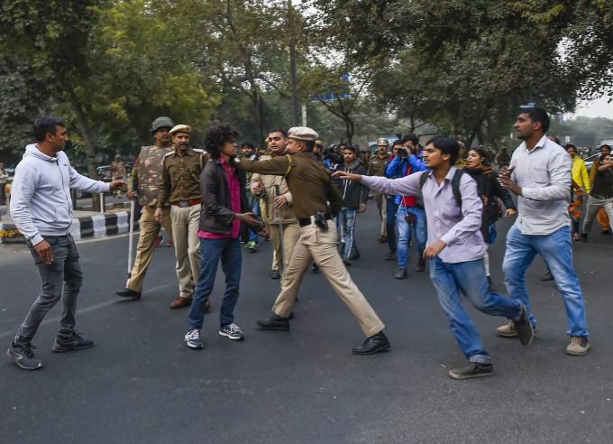 JNU Students Protest In New Delhi