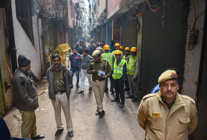 Fire Accident At A Factory In New Delhi