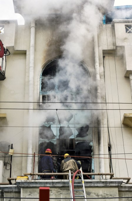 Fire Breaks Out At A Paper Factory In Delhi