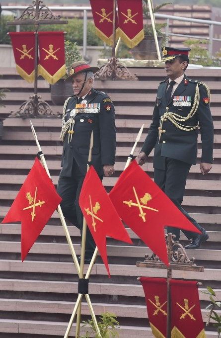 India's First CDS Gen Bipin Rawat Take Charge In New Delhi