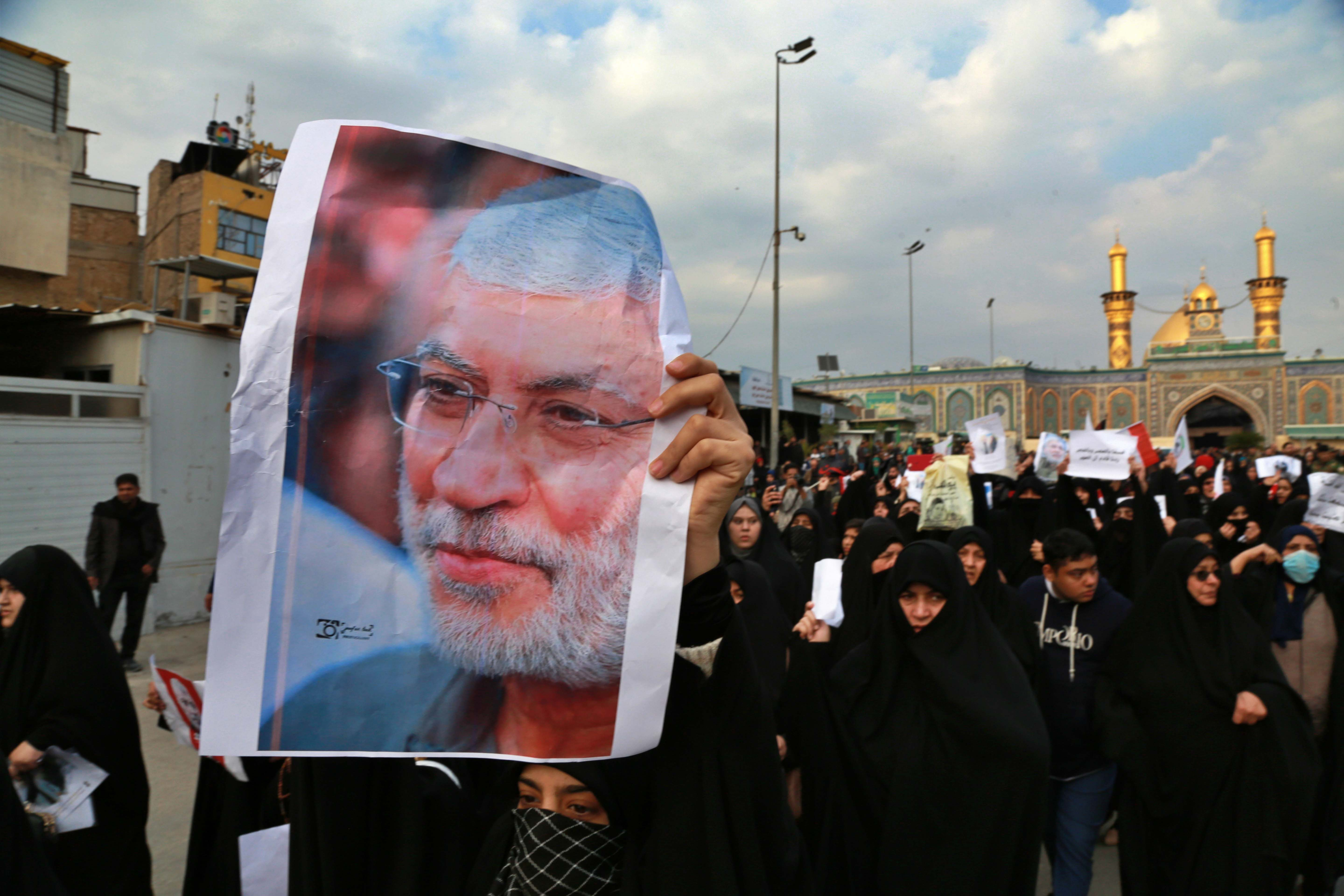 Protest Against Killing Of Iran General Qassem Soleimani
